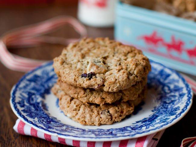 Irish Christmas Cookies  Christmas cranberry and white chocolate cookies recipe