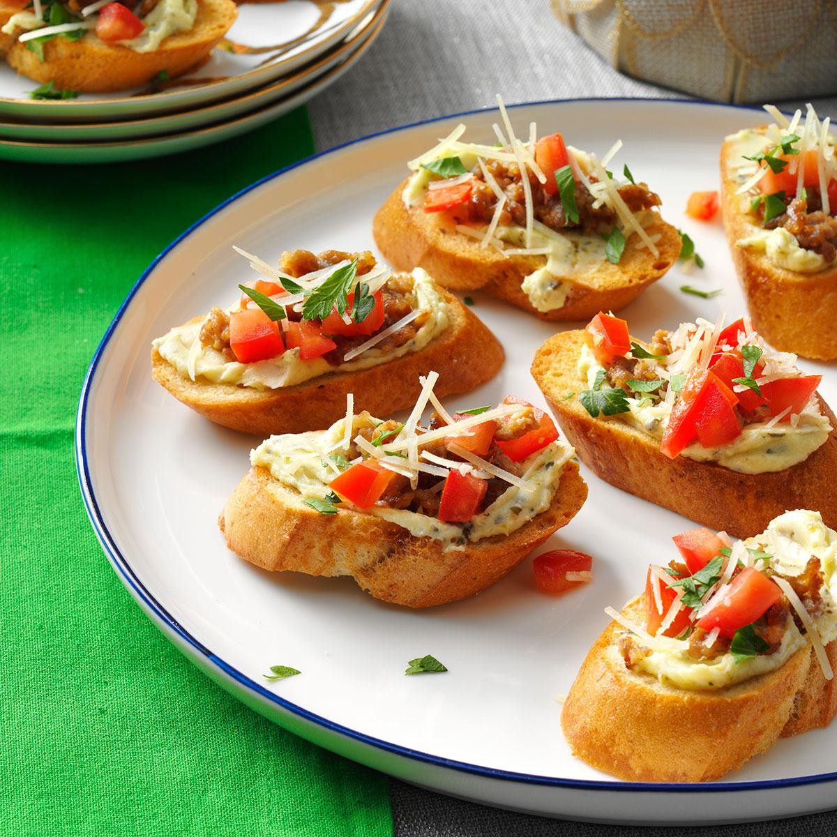 Italian Christmas Appetizers  Italian Sausage Bruschetta Recipe