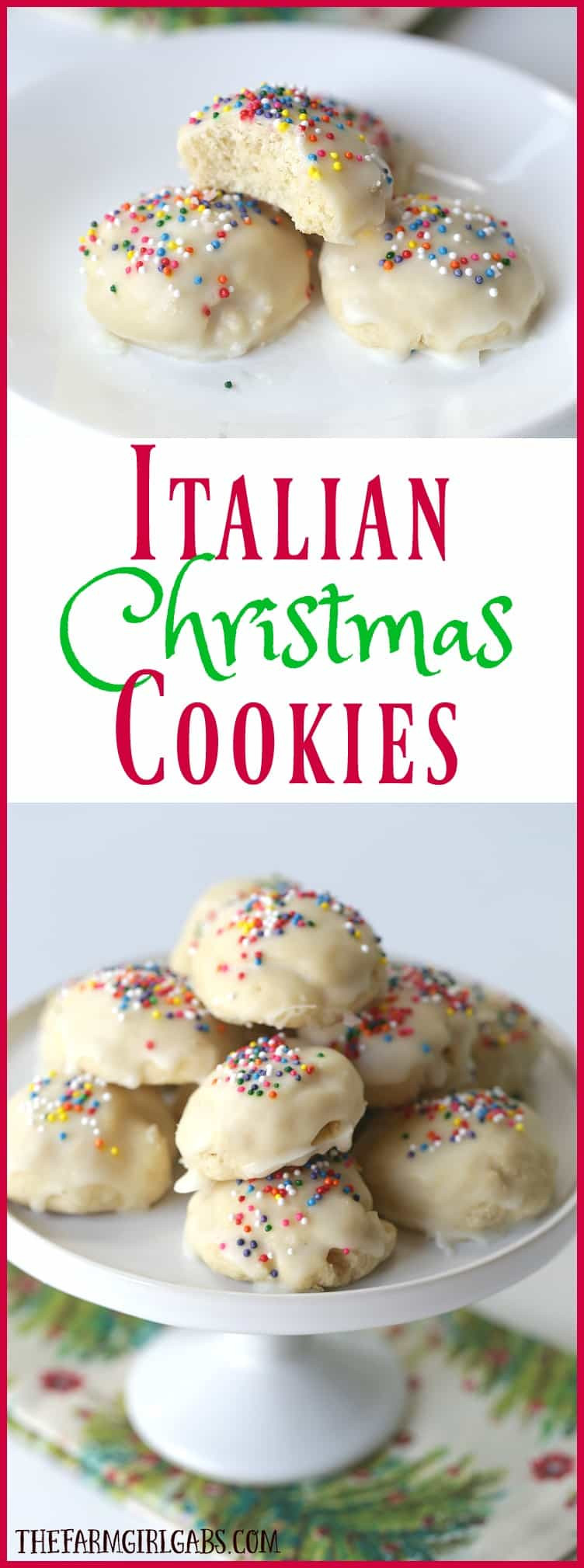 Italian Christmas Cookie Recipes  Italian Christmas Cookies The Farm Girl Gabs