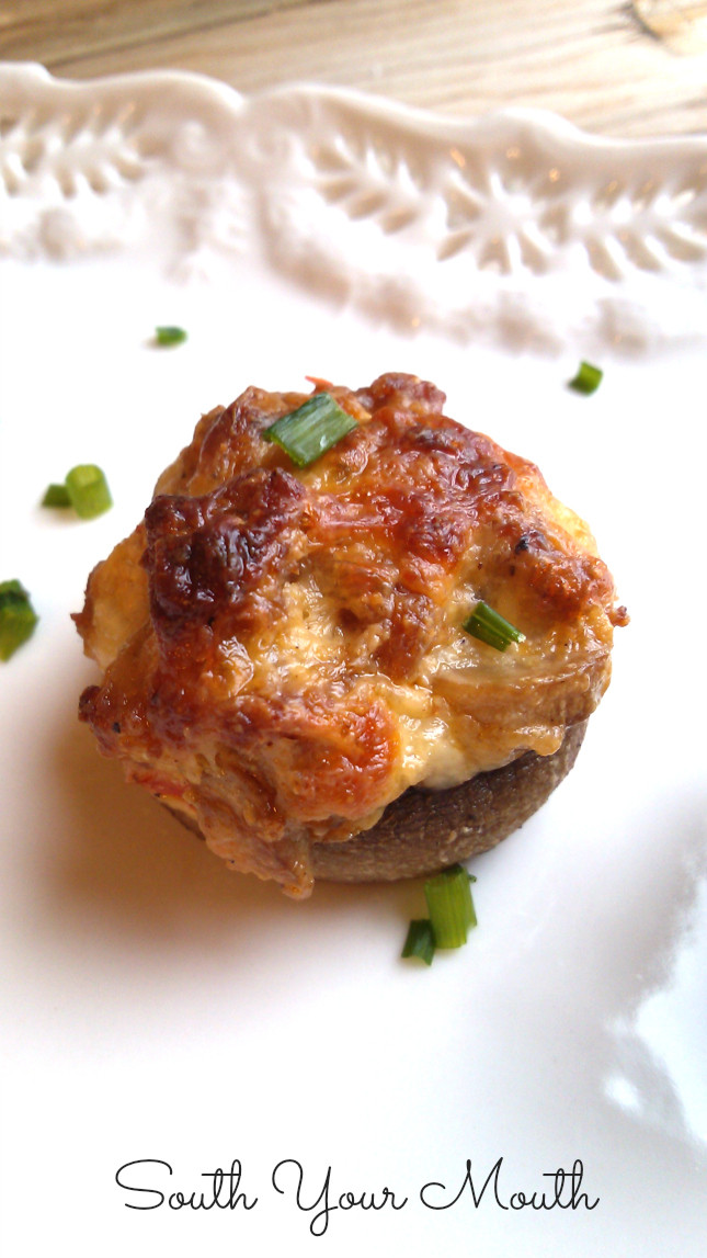 Italian Christmas Eve Appetizers  Stuffed Mushrooms South Your Mouth