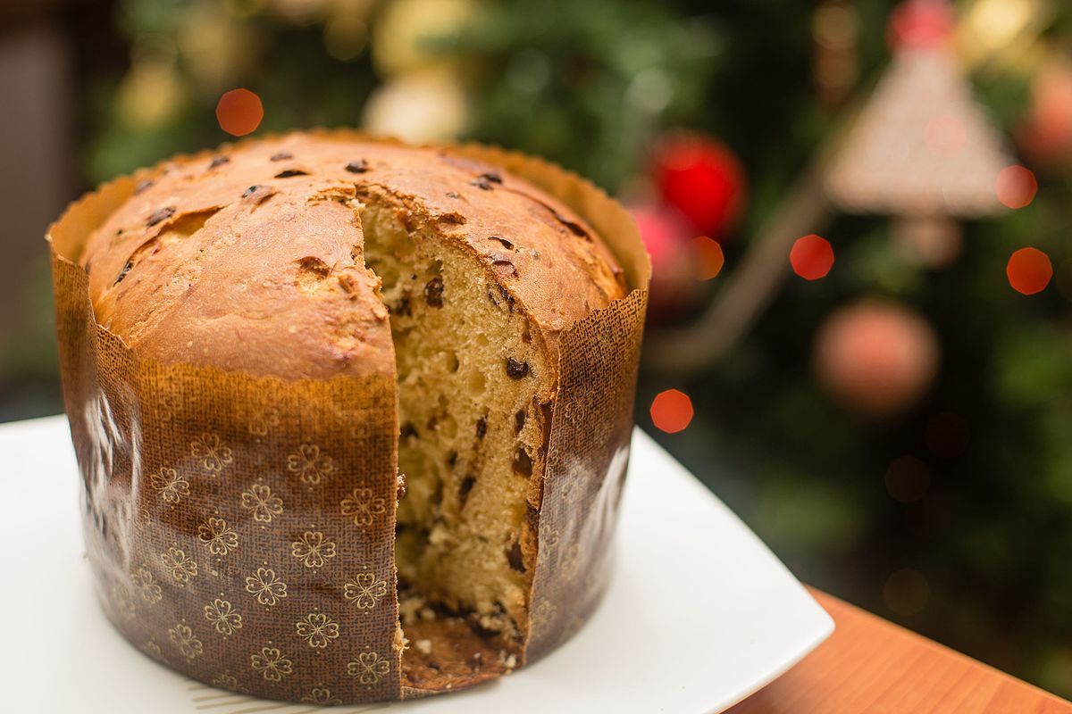 Italian Sweet Bread Loaf Made For Christmas  Panettone
