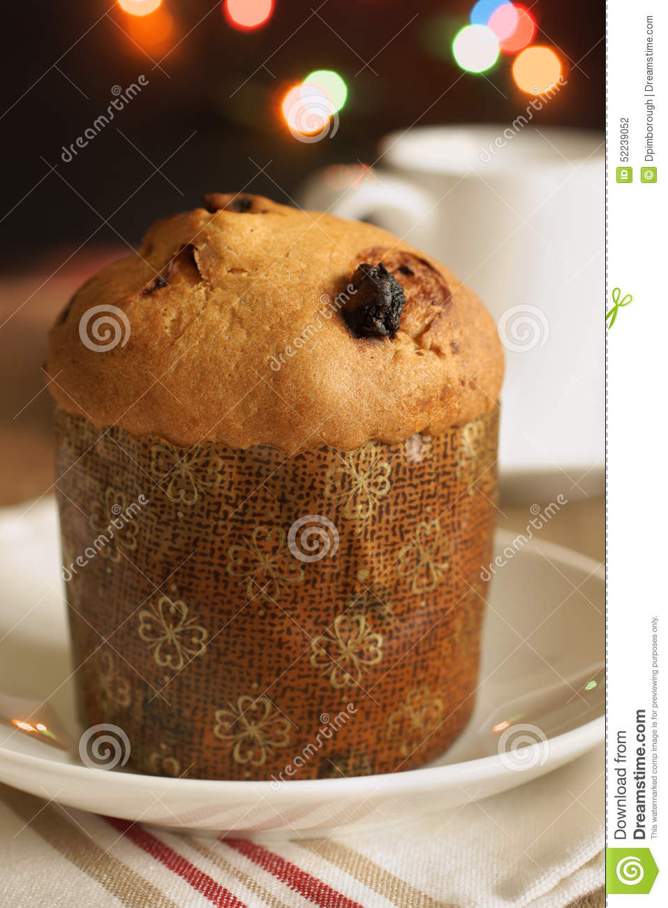 Italian Sweet Bread Loaf Made For Christmas  Panettone stock photo Image of bread homemade raisin