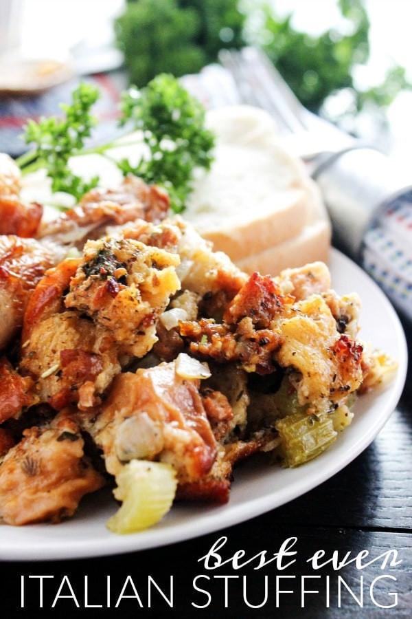 Italian Thanksgiving Recipes  Best Ever Italian Stuffing A Dash of Sanity