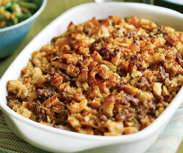 Italian Thanksgiving Recipes  Italian Bread & Sausage Stuffing Recipe FineCooking