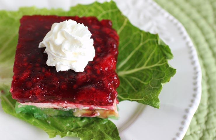 Jello Salads For Christmas  Christmas Ribbon Gelatin Salad