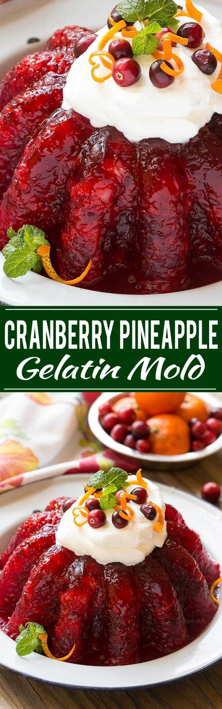 Jello Salads For Thanksgiving Dinner  Check out Cranberry Jello Salad It s so easy to make