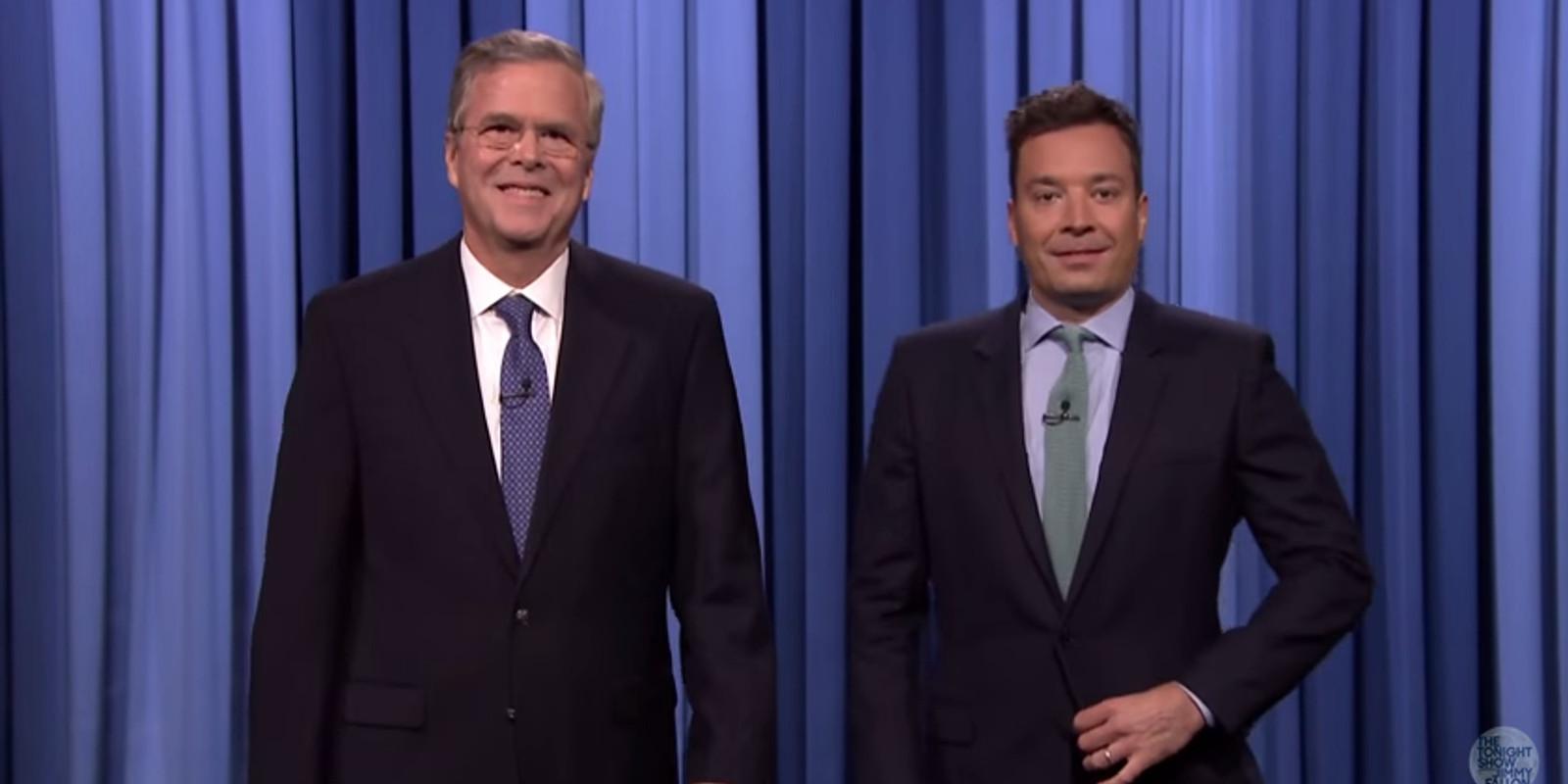 Jimmy Fallon Jeb Bush Guacamole  Bush slow jams his announcement with Fallon