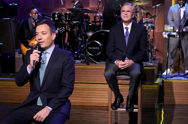Jimmy Fallon Jeb Bush Guacamole  Jeb Bush Slow Jams the News on Tonight Show