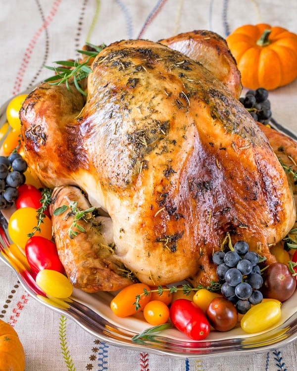 Juicy Thanksgiving Turkey  Super Juicy No Brine Roast Turkey Video Sweet & Savory