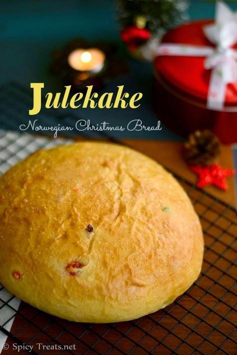 Julekake Norwegian Christmas Bread Recipe  Spicy Treats Julekake Recipe Norwegian Cardamom Scented