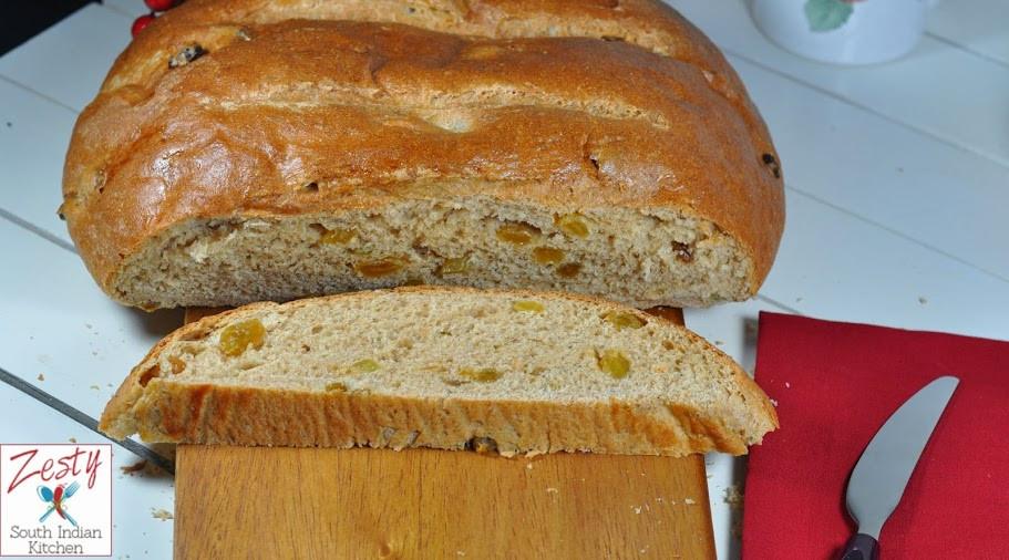 Julekake Norwegian Christmas Bread Recipe  Julekake Norwegian Christmas Bread Zesty South Indian
