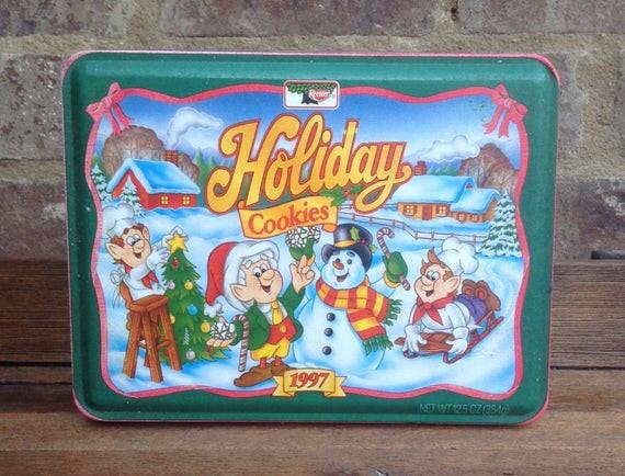 Keebler Christmas Cookies  Keebler Elf Christmas Holiday Cookies Tin Can Rectangle Box