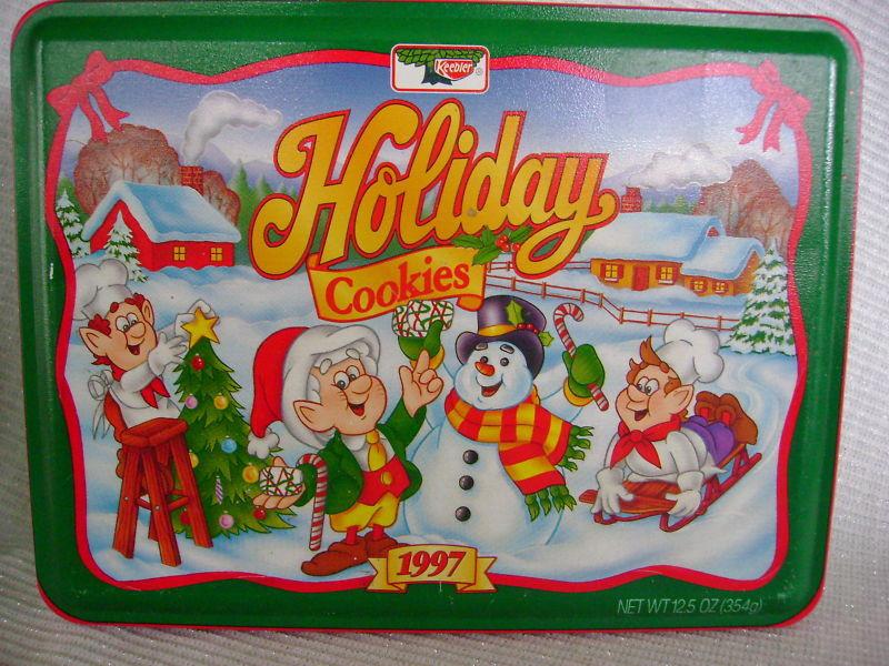Keebler Christmas Cookies  1997 KEEBLER HOLIDAY COOKIES CHRISTMAS TIN