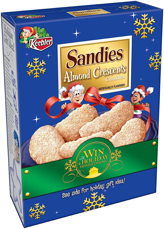 Keebler Christmas Cookies  almond crescent cookies keebler