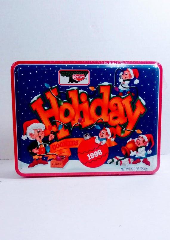 Keebler Christmas Cookies  Items similar to Christmas Cookies Tin Retro Holiday