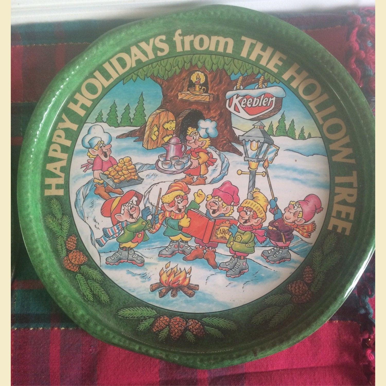 Keebler Christmas Cookies  Vintage Keebler Christmas Cookie Tin From 1985 Vintage