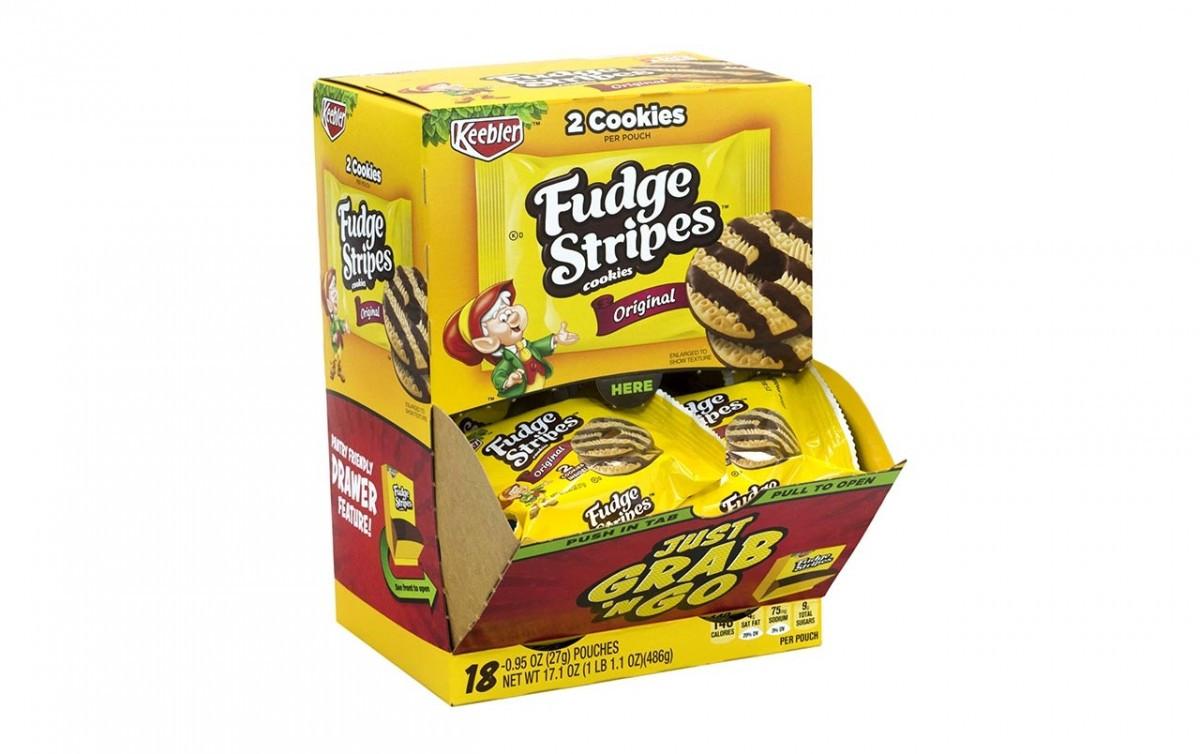 Keebler Christmas Cookies  KEEBLER Fudge Stripes Cookies Grab N Go 2 Cookie Packs