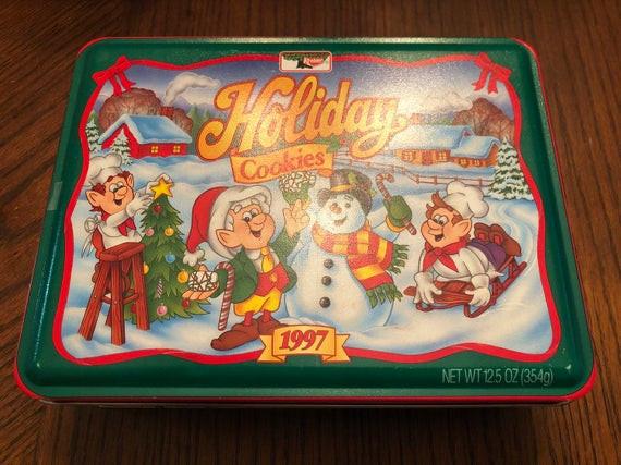Keebler Christmas Cookies  Vintage 1997 Keebler Elf Deluxe Holiday Christmas Cookie