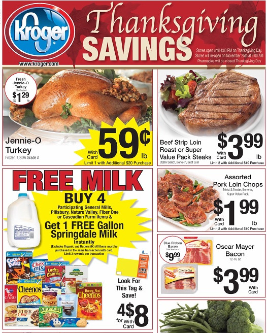 Kroger Thanksgiving Dinners 2019  Kroger Weekly Matchups 11 16 Blue Bell only $3 99