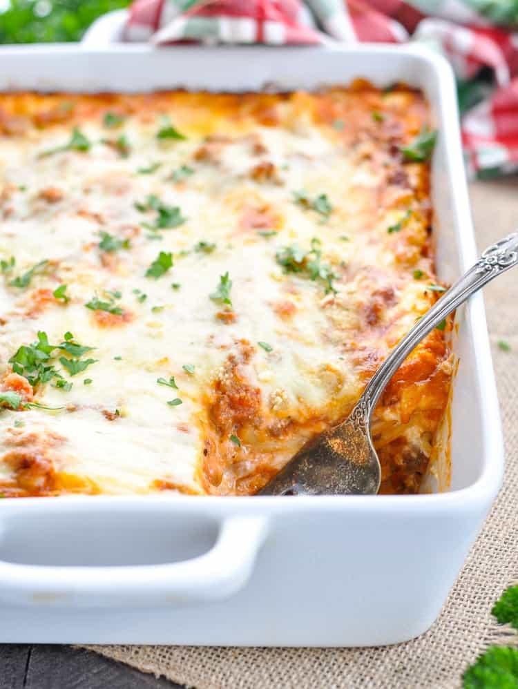 Lasagna For Christmas Dinner  Chi Chi s Christmas Eve Lasagna Recipe The Seasoned Mom