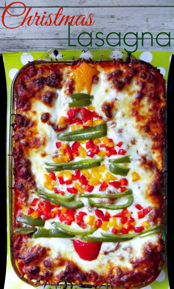 Lasagna For Christmas Dinner  Christmas Lasagna