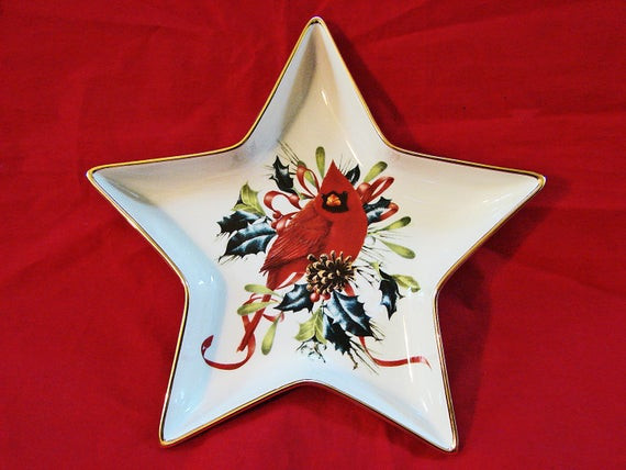 Lenox Christmas Candy Dish  LENOX Winter Greetings Christmas Candy Dish by TreasuresPast4U