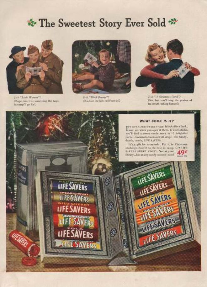 Lifesavers Christmas Candy Book  Vintage Food Advertisements of the 1940s Page 20