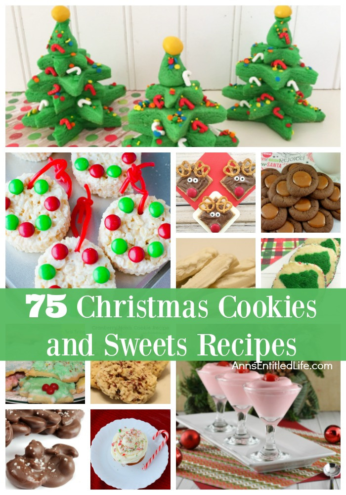 List Of Christmas Cookies  75 Christmas Cookies and Sweets Recipes