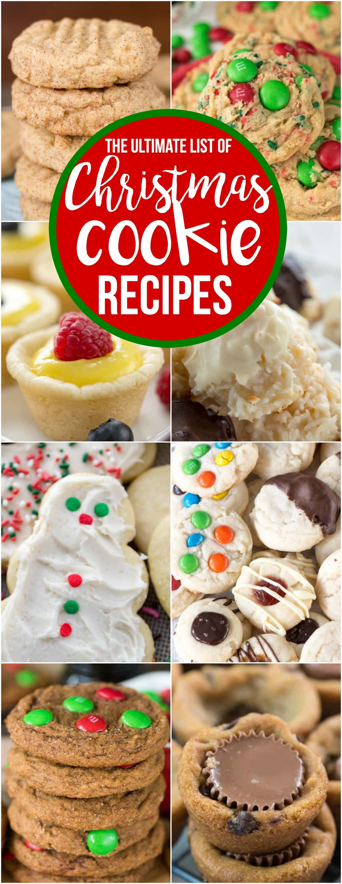 List Of Christmas Cookies  The Ultimate List of Christmas Cookies Crazy for Crust