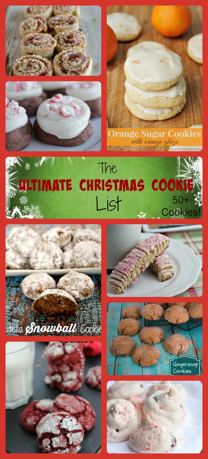 List Of Christmas Cookies  Hello Happy Place The Ultimate Christmas Cookie List