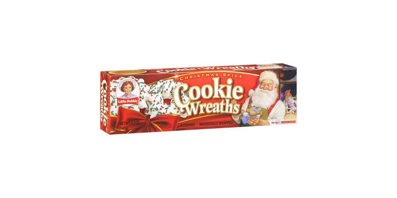 Little Debbie Christmas Wreath Cookies  Little Debbie Snacks Wreath Cookies Reviews 2019