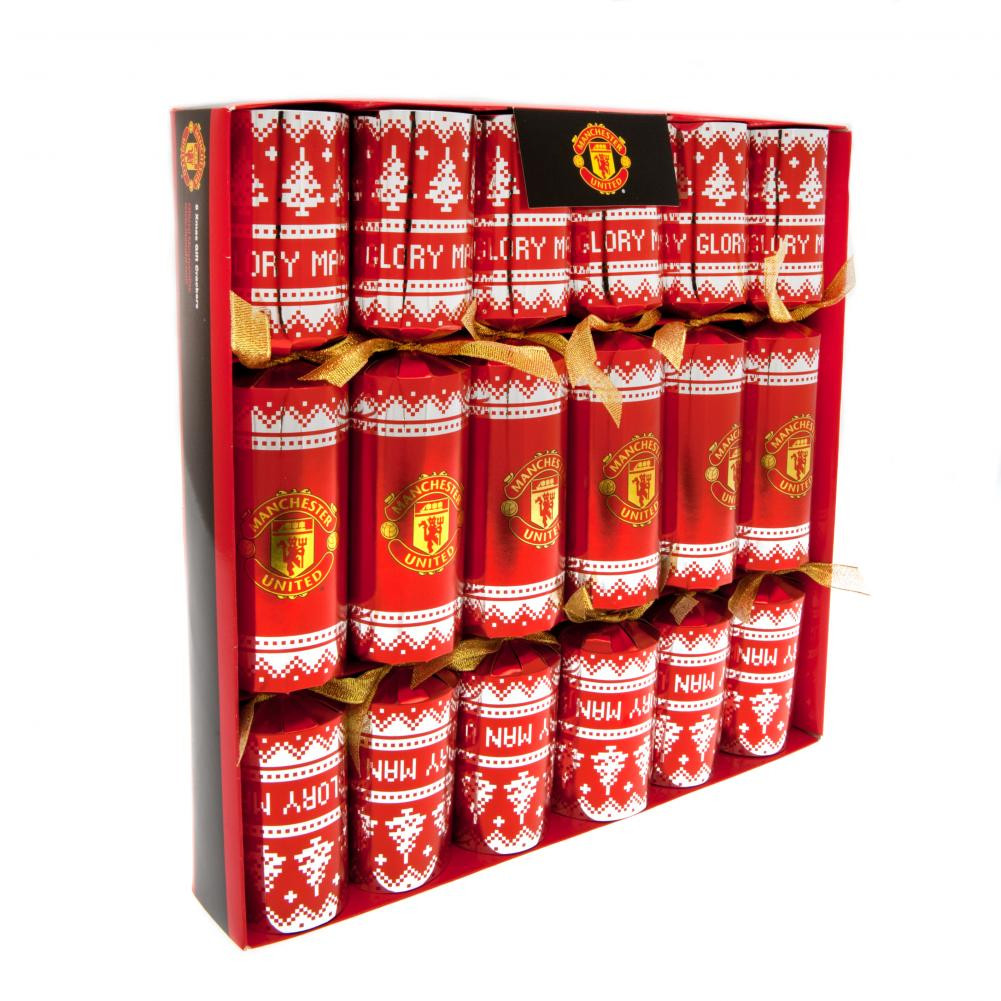 Luxury Christmas Crackers  ficial Manchester United F C 6pk Luxury Christmas
