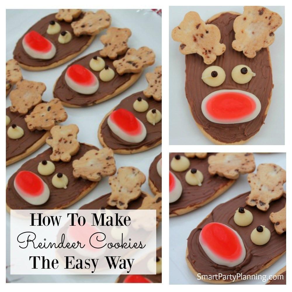 Make Christmas Cookies  How To Make Reindeer Cookies The Easy Way