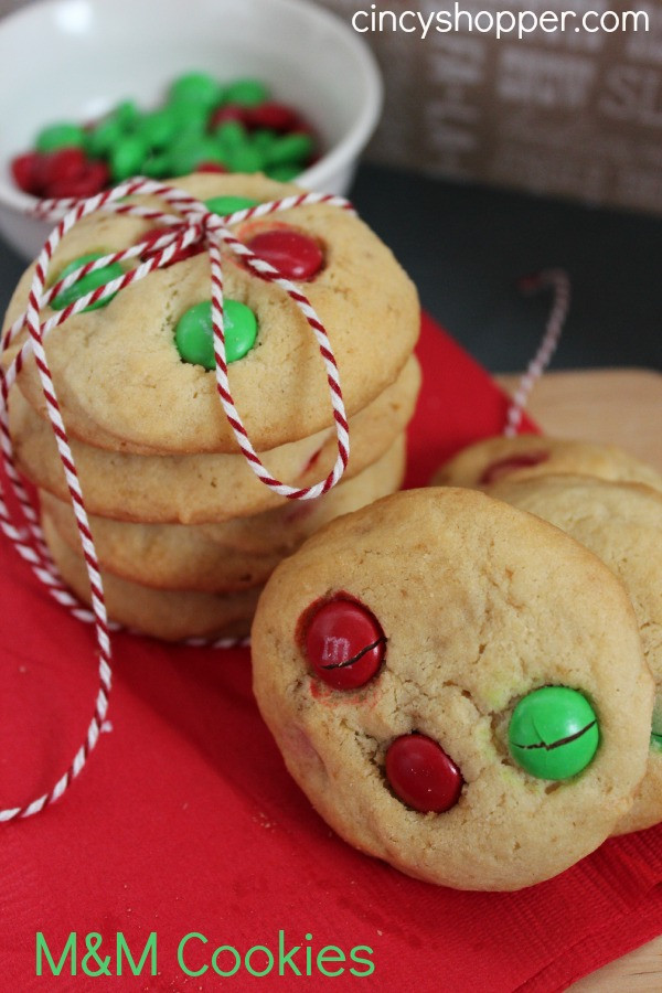 M&M Christmas Cookies Recipe  50 Christmas Cookie Recipes
