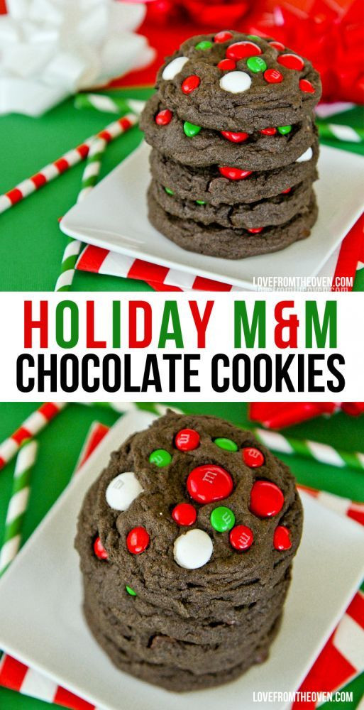M&M Christmas Cookies Recipe  Chocolate M&M Cookies Minty and colorful M&M can s make