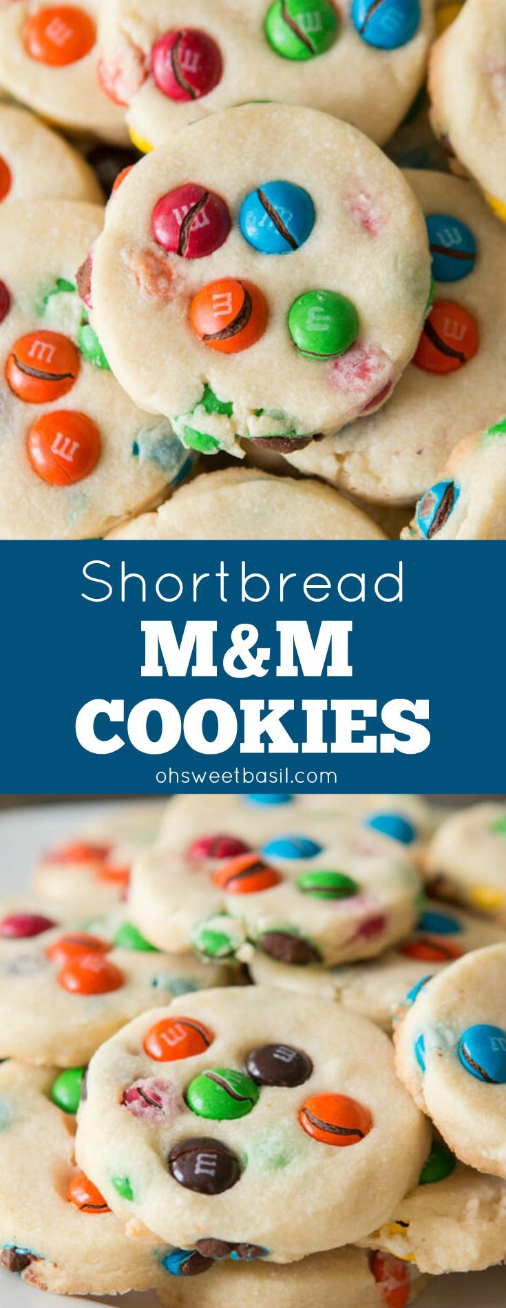 M&M Christmas Cookies Recipe  Buttery shortbread m&m cookies We love making these
