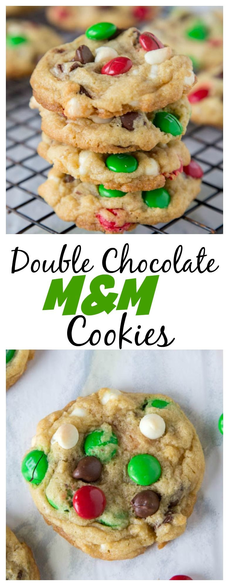 M&M Christmas Cookies Recipe  Double Chocolate M&M Cookies – super soft and chewy