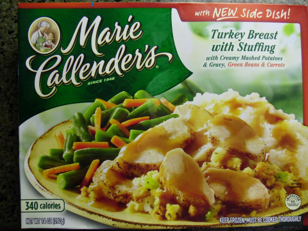 Marie Calendars Thanksgiving Dinner  Marie Callender s Turkey Breast with Stuffing Review