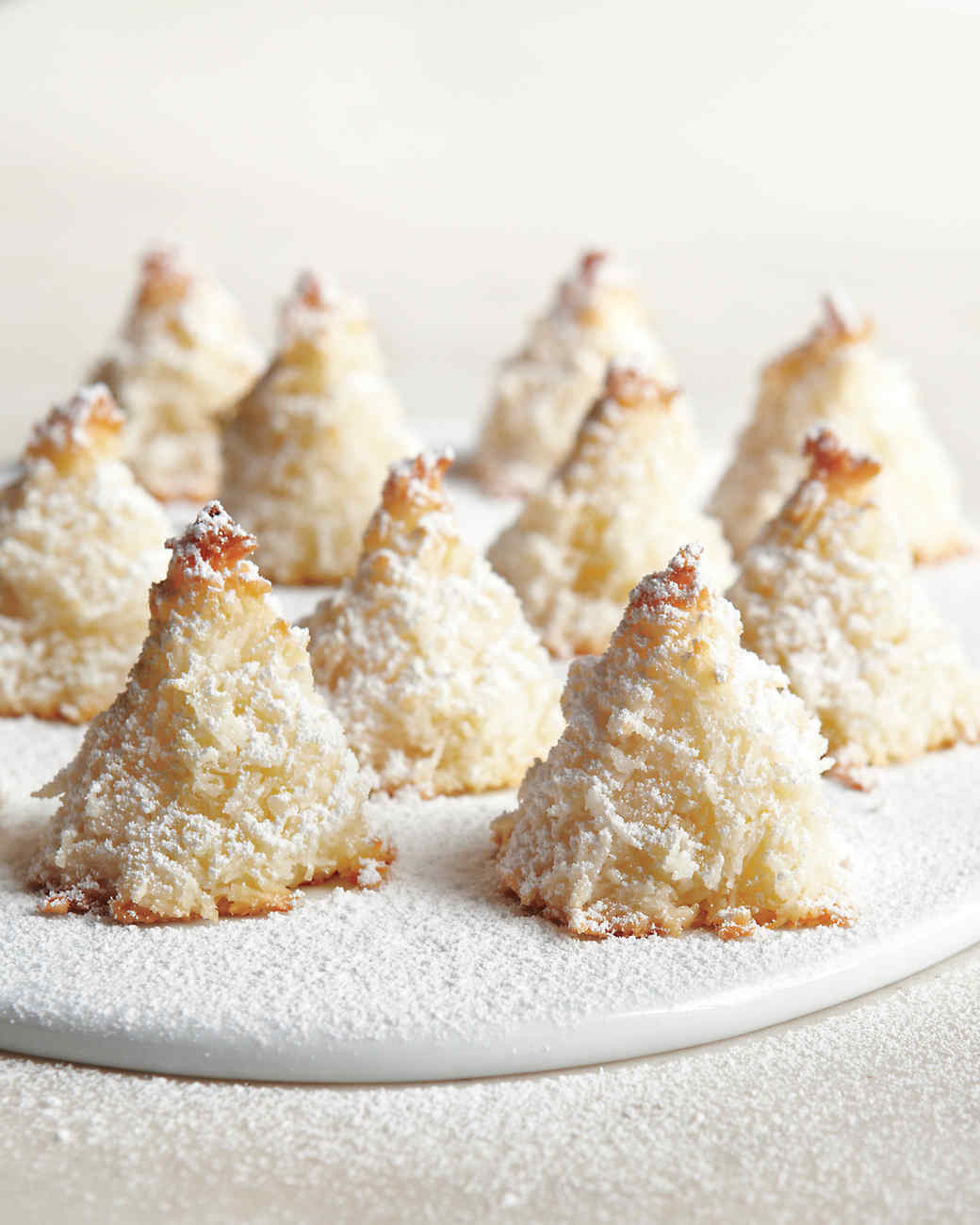 Martha Stewart Christmas Cookies  Sugar Dusted Macaroon Trees Recipe