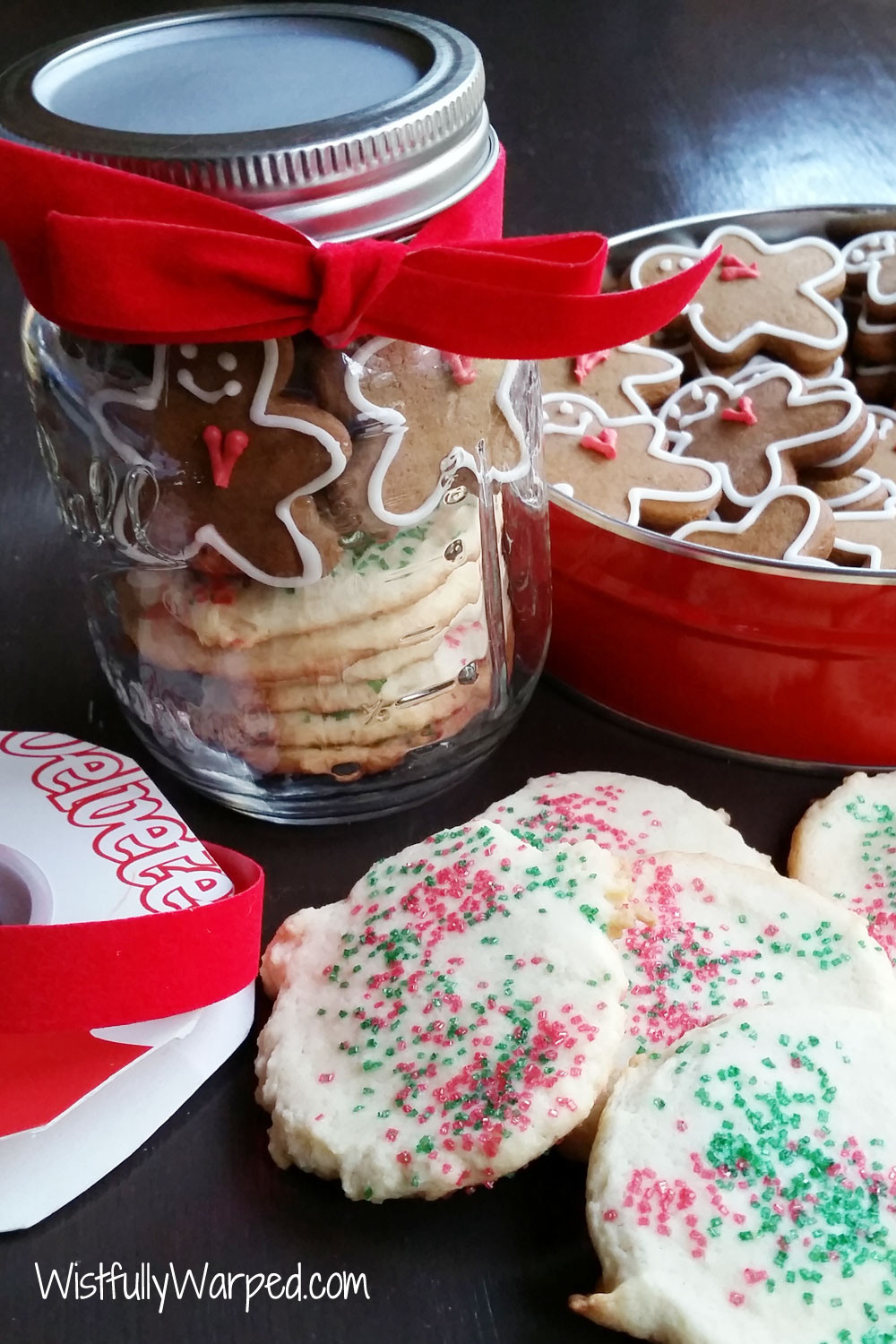 Mason Jar Christmas Cookies  Christmas Cookie Mason Jar Gift wistfullywarped