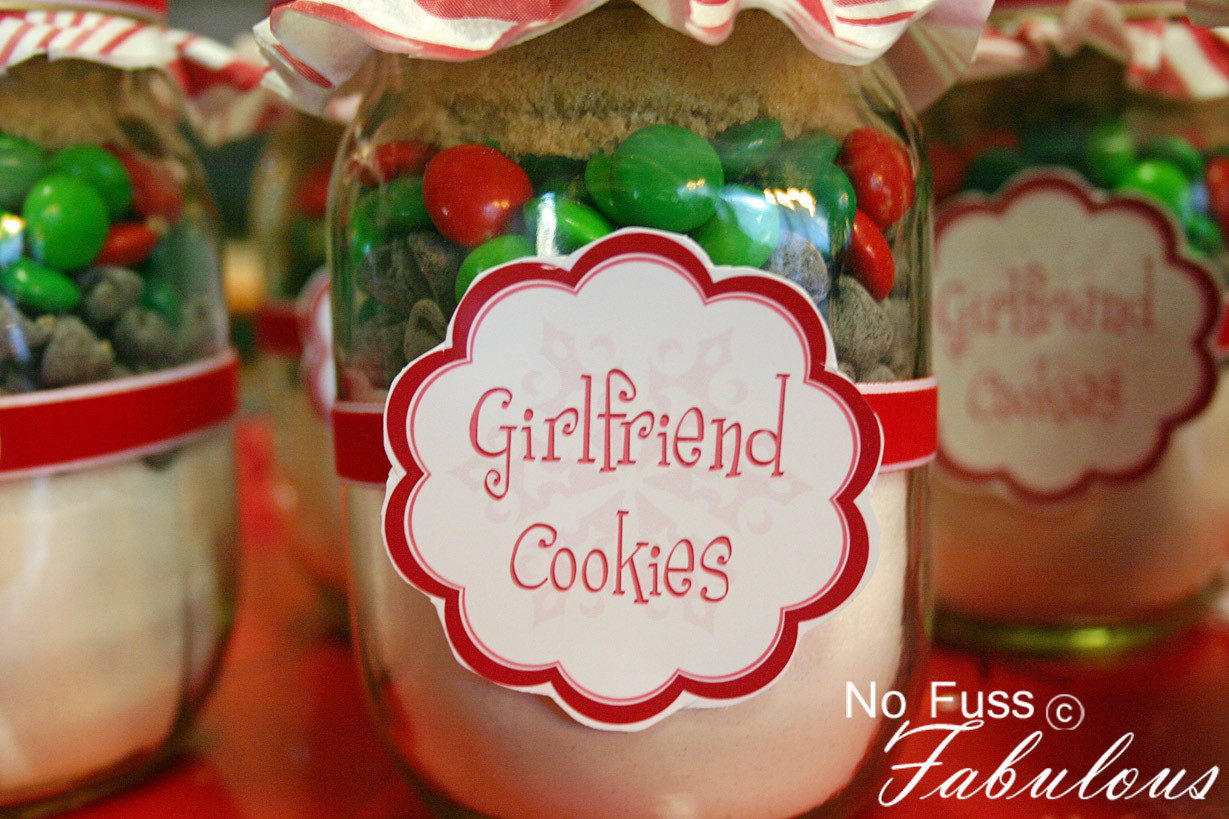 Mason Jar Christmas Cookies  Christmas Girlfriend Cookies in a Jar – Loralee Lewis