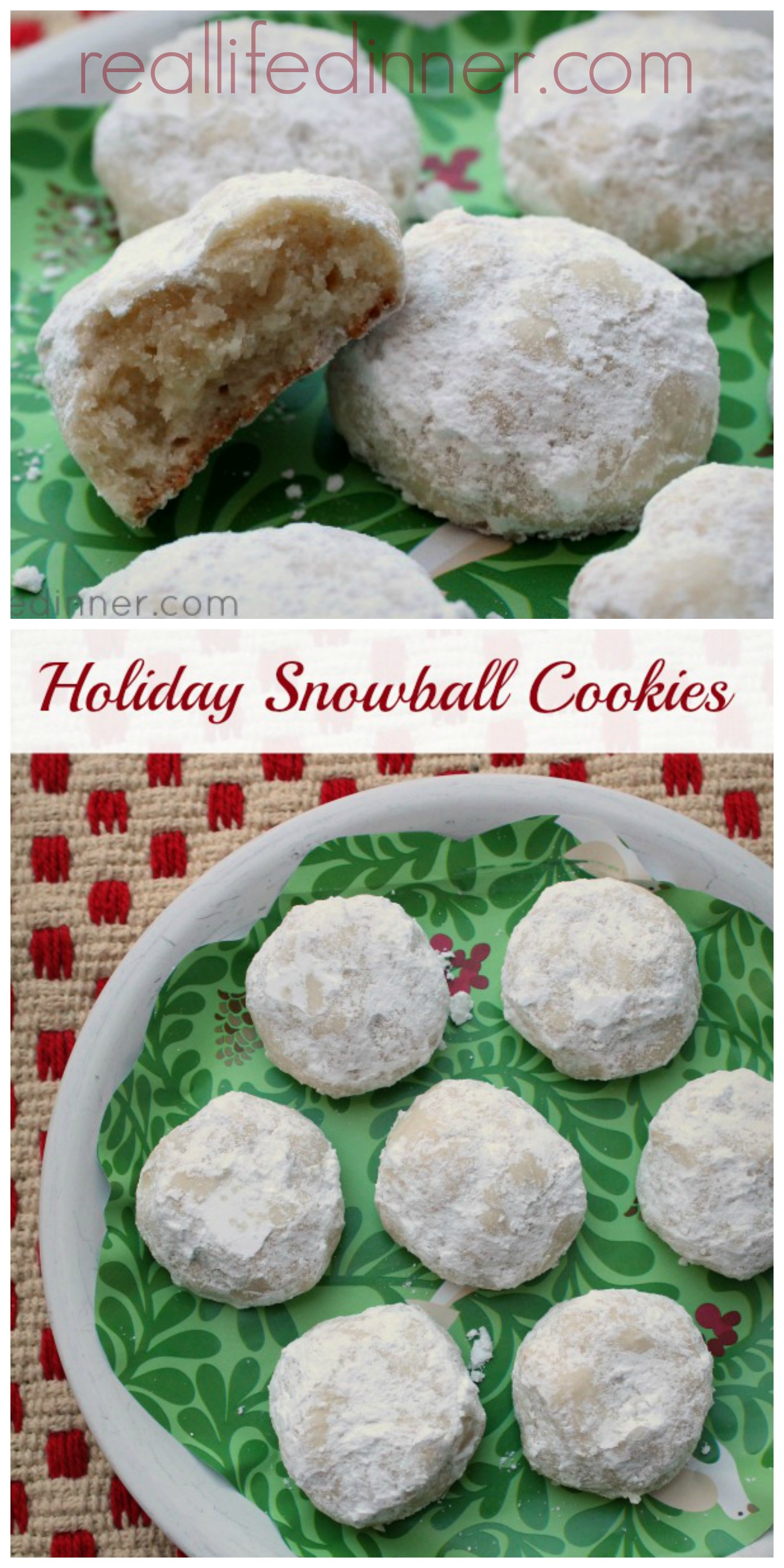 Mexico Christmas Cookies  Holiday Snowball Cookies