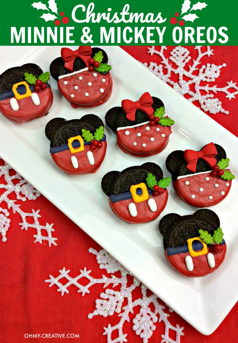 Mickey Mouse Christmas Cookies  Christmas Minnie And Mickey Mouse Oreos Oh My Creative