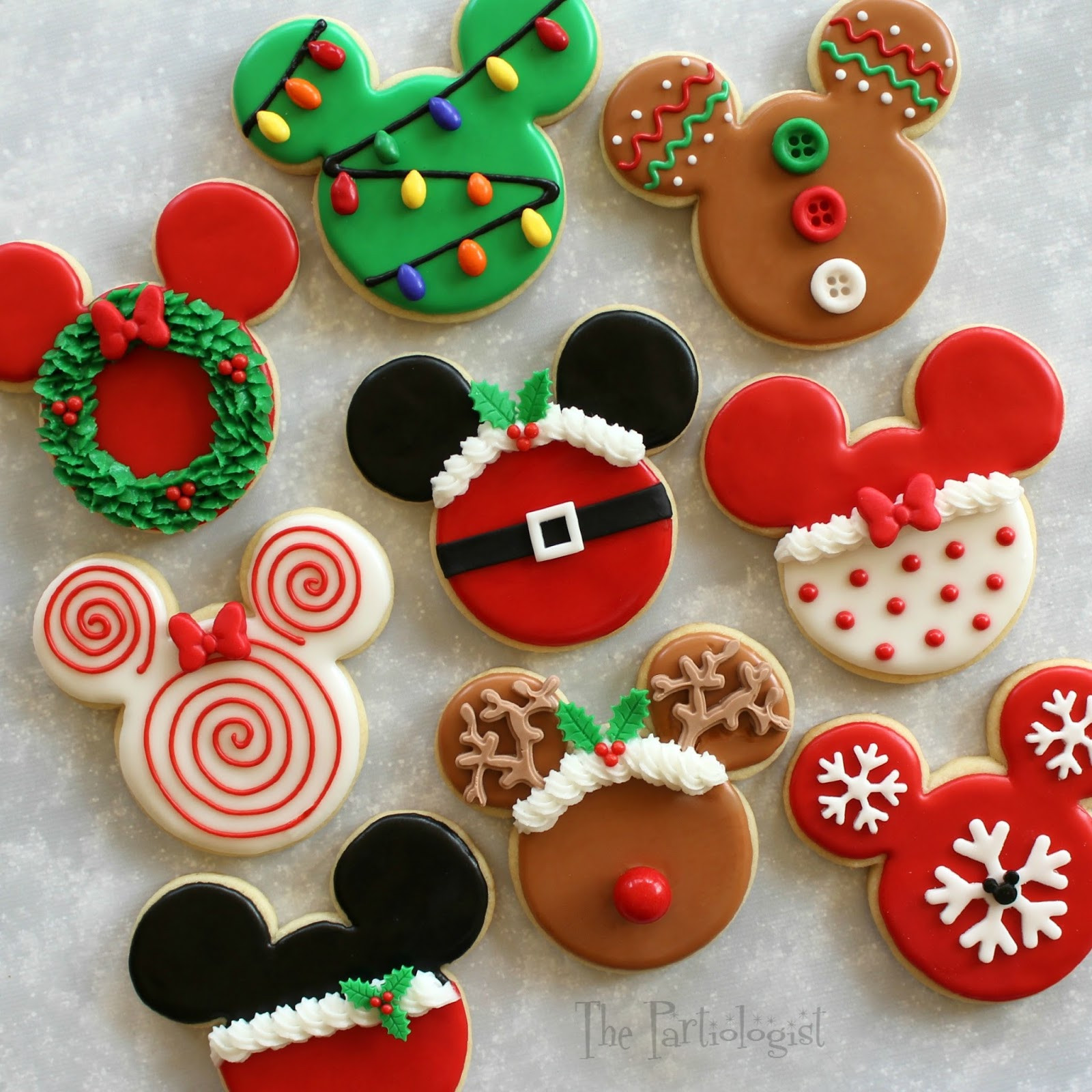 Mickey Mouse Christmas Cookies  The Partiologist Disney Themed Christmas Cookies