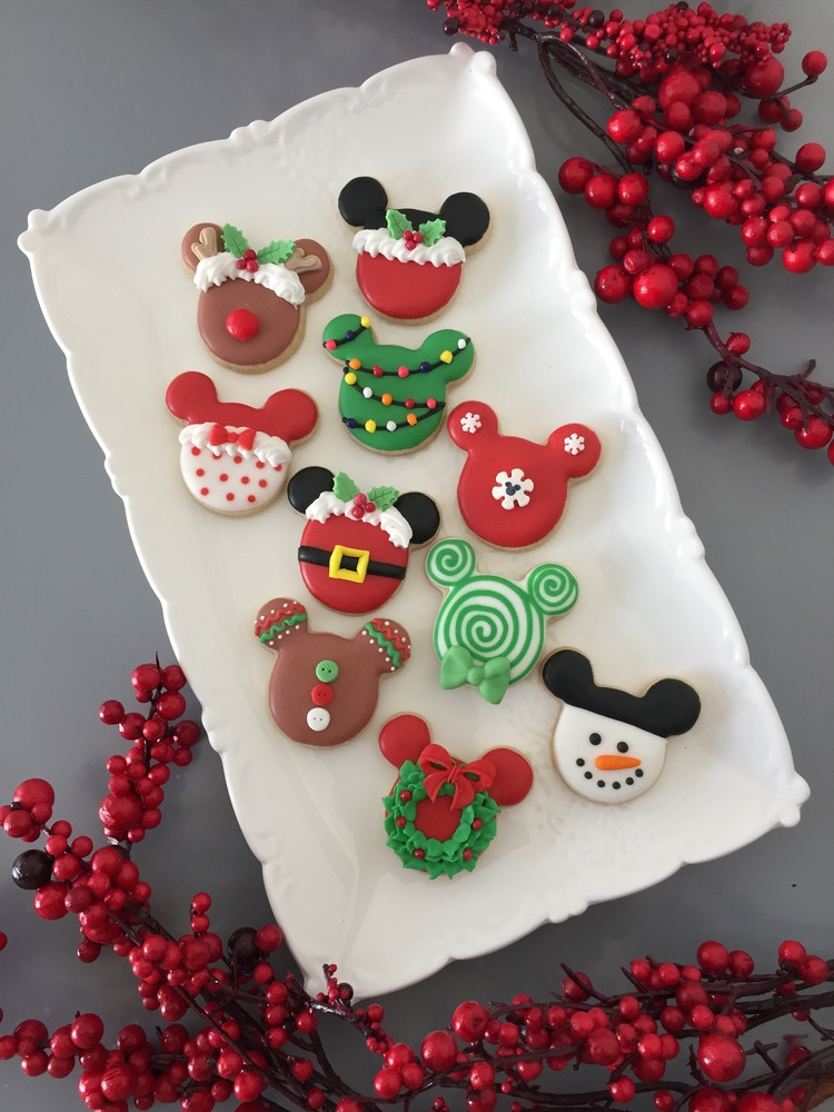 Mickey Mouse Christmas Cookies  Mickey Mouse themed Christmas cookies