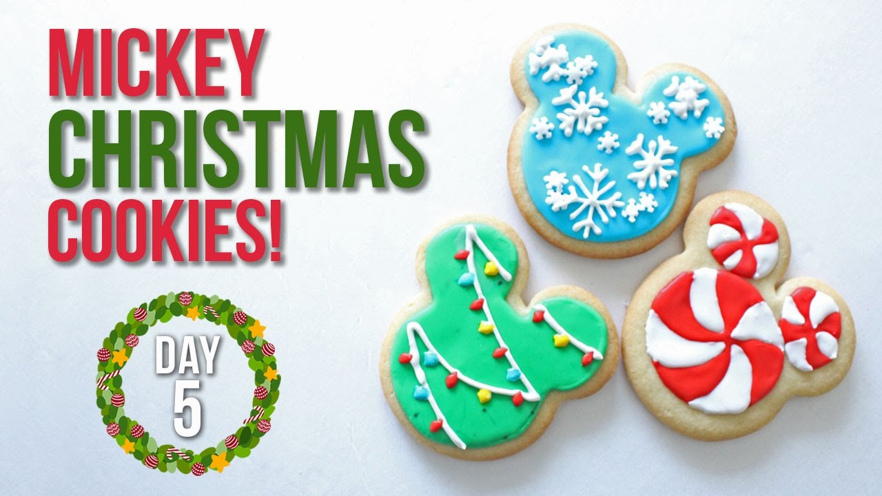 Mickey Mouse Christmas Cookies  How to Make Mickey Mouse Christmas Cookies