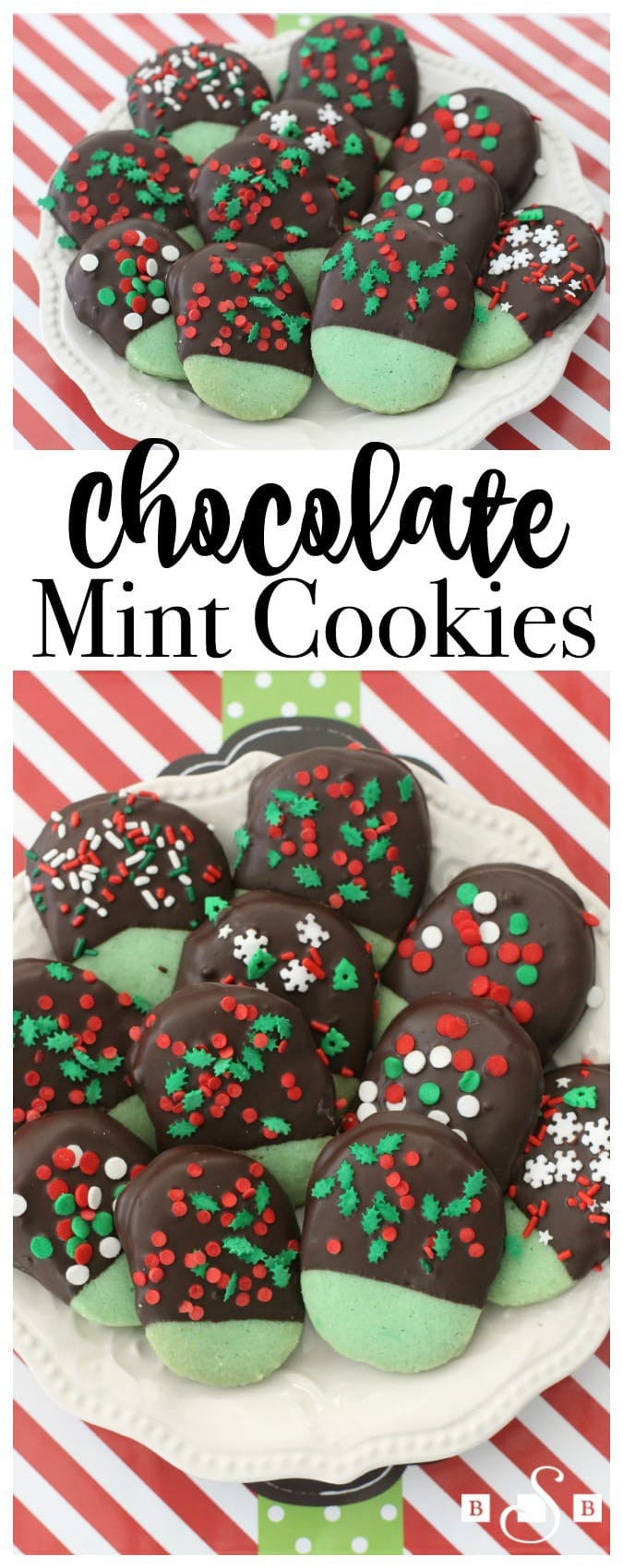 Mint Christmas Cookies  CHOCOLATE MINT COOKIES Butter with a Side of Bread