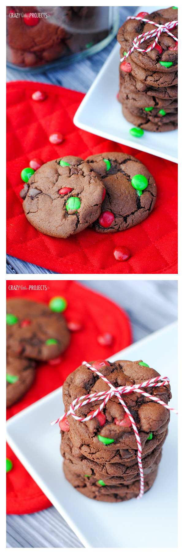Mint Christmas Cookies  Double Chocolate Mint Cookies for Christmas Crazy Little