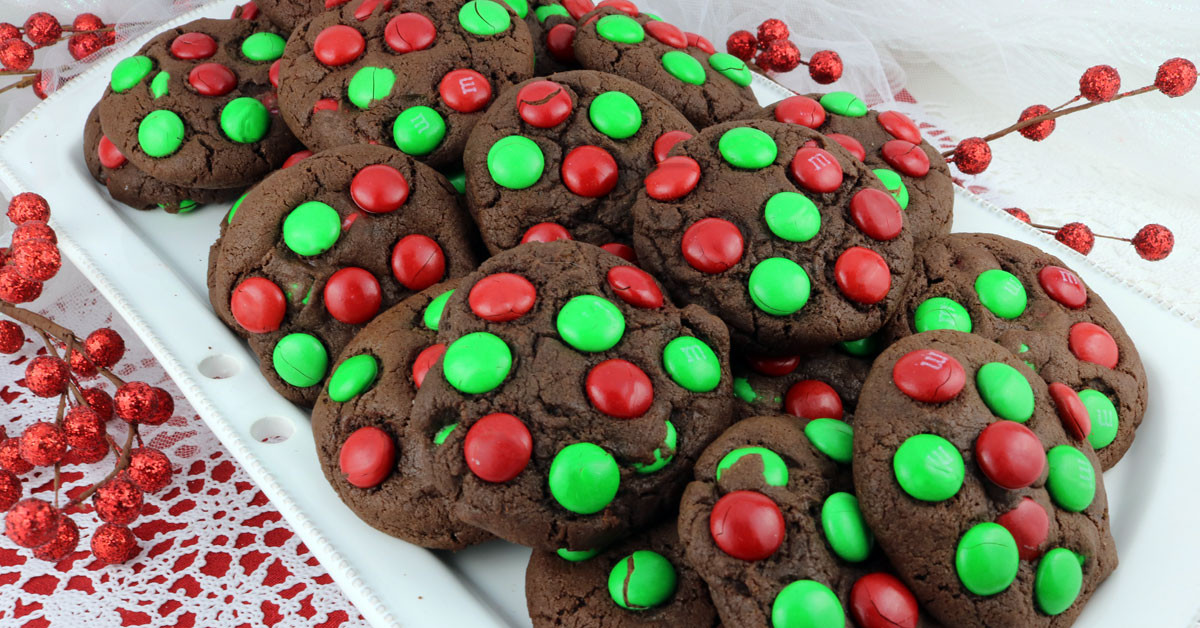 Mm Christmas Cookies  Chocolate M&M Christmas Cookies Two Sisters