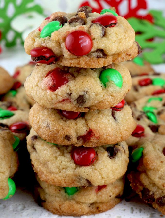 Mm Christmas Cookies  Christmas M&M Mini Cookies Two Sisters